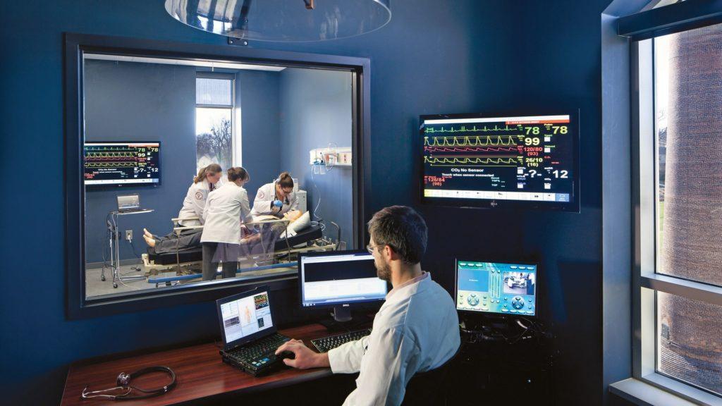 Edward Via College of Osteopathic Medicine (VCOM), Simulation Room