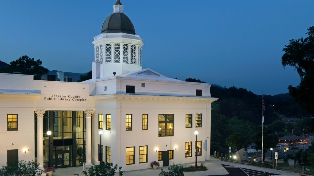 Jackson County Library at Night