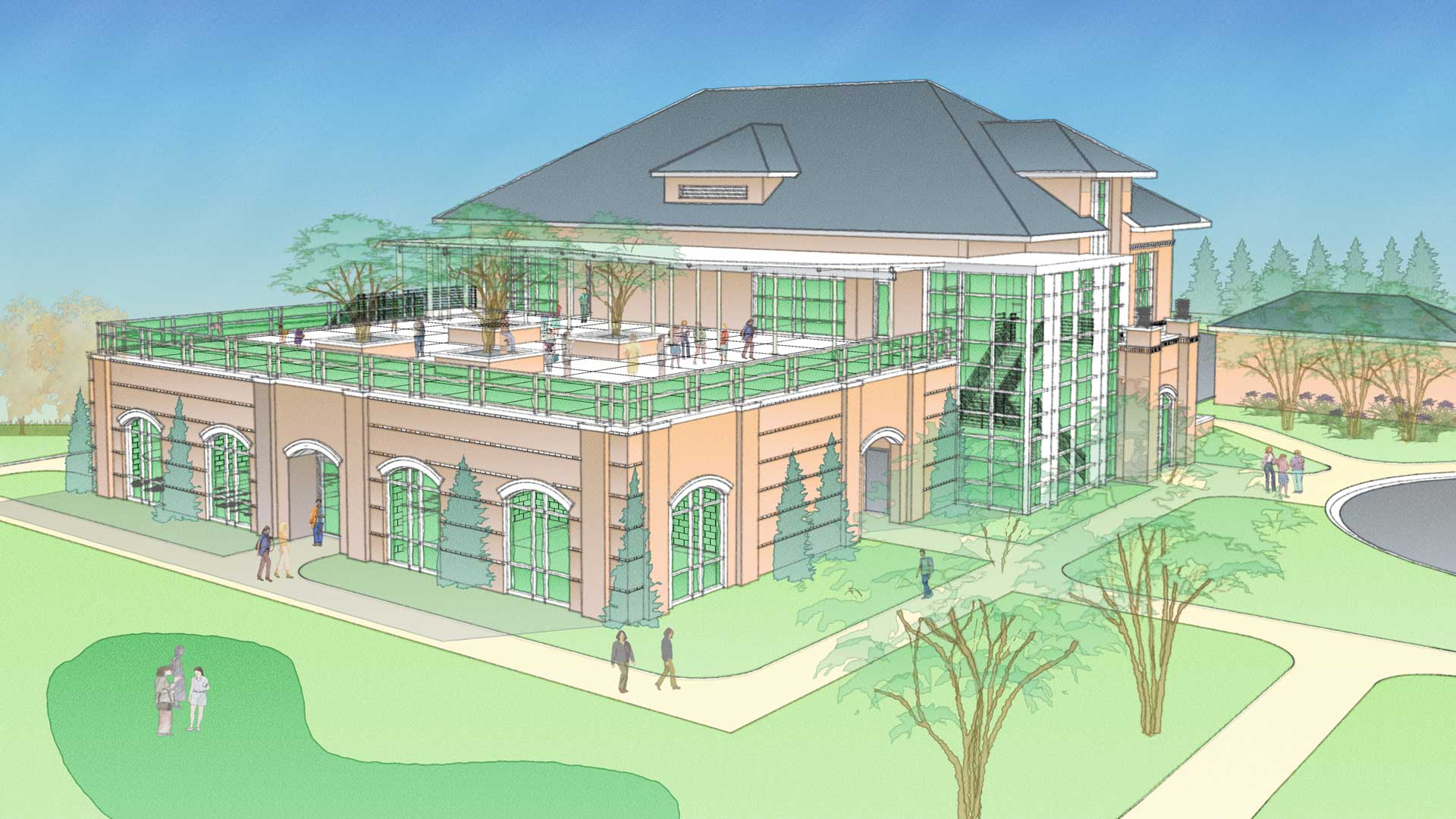 Conver College Field House Rendering