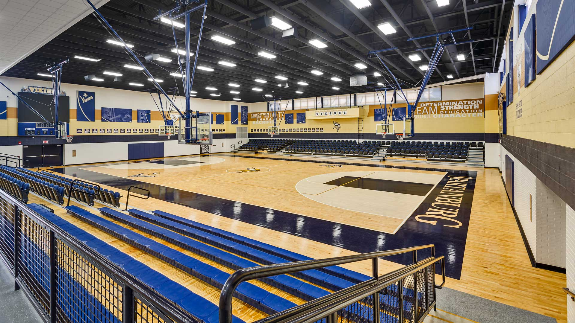 Spartanburg High School, renovated Gym