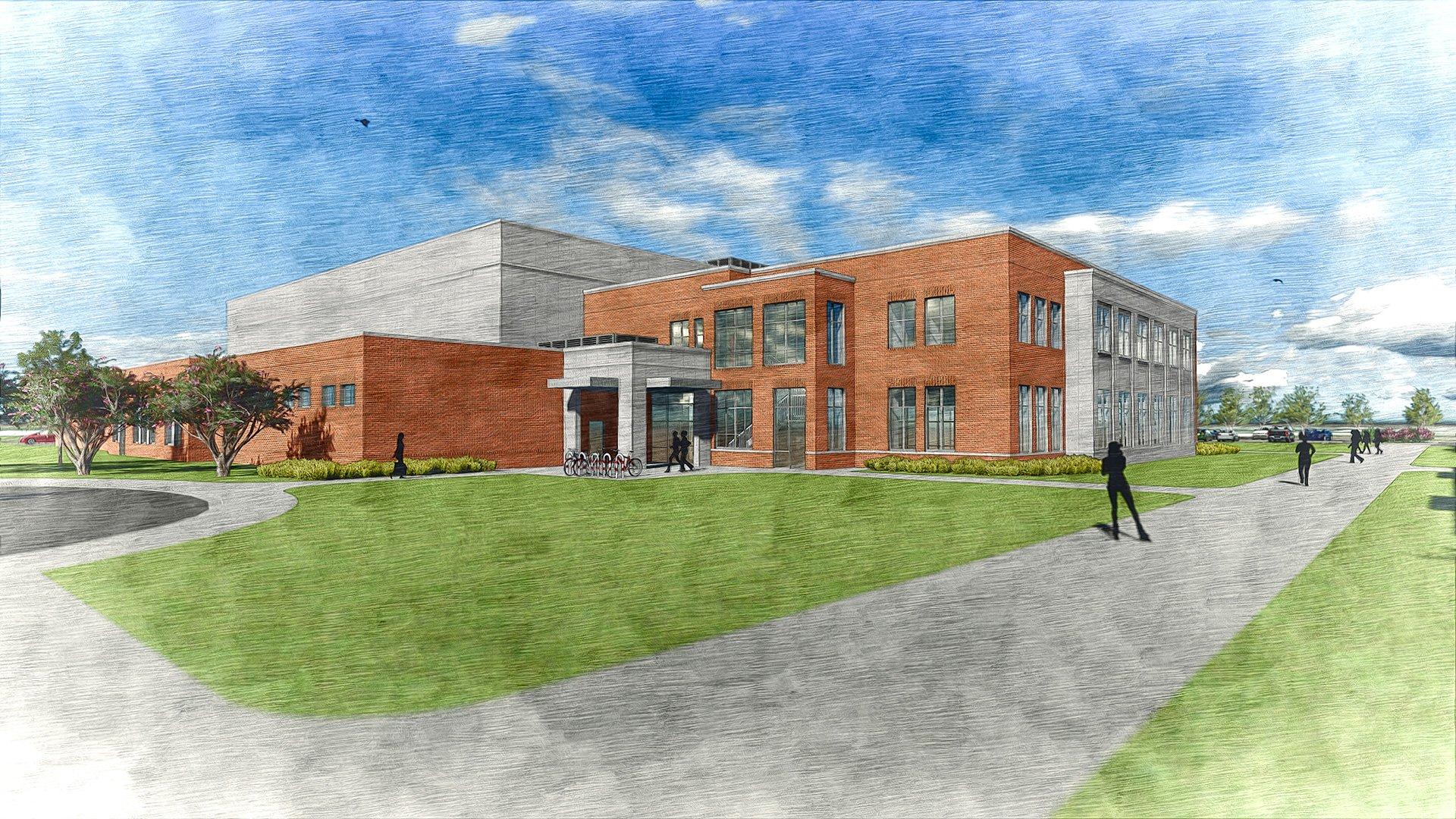 Coker College, Athletic Complex, Rendering