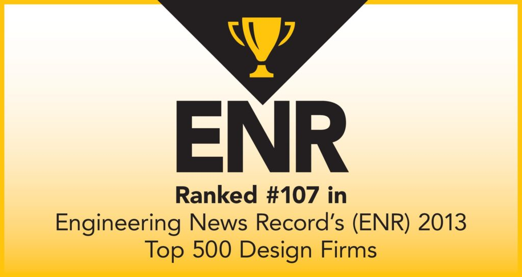 ENR Award Ranked 107 in 2013 graphic