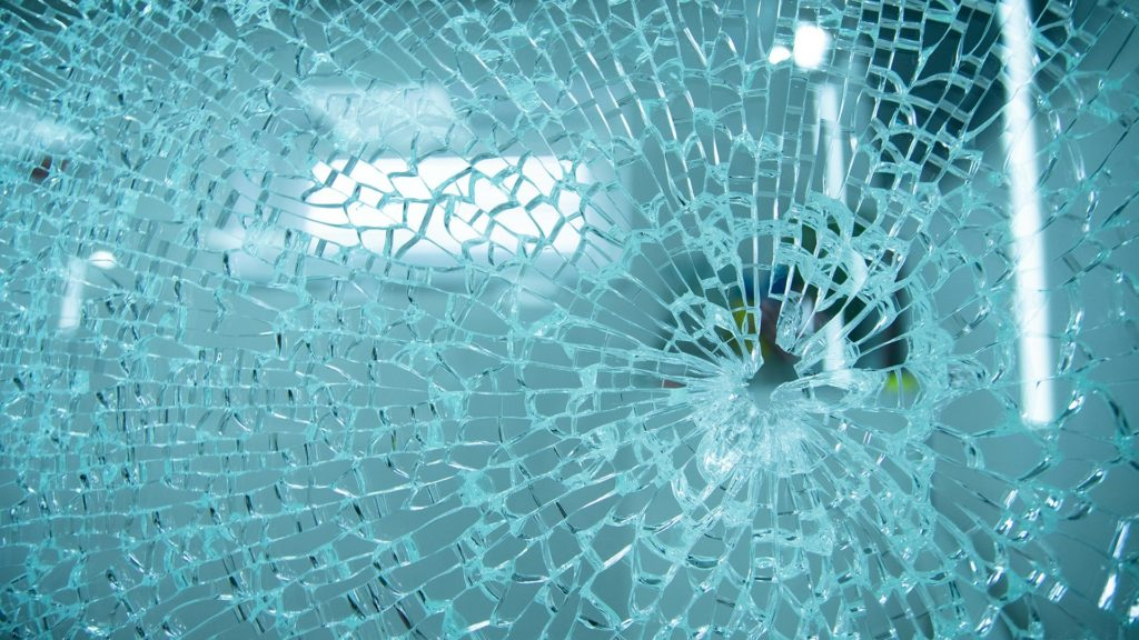 Photo of cracked glass