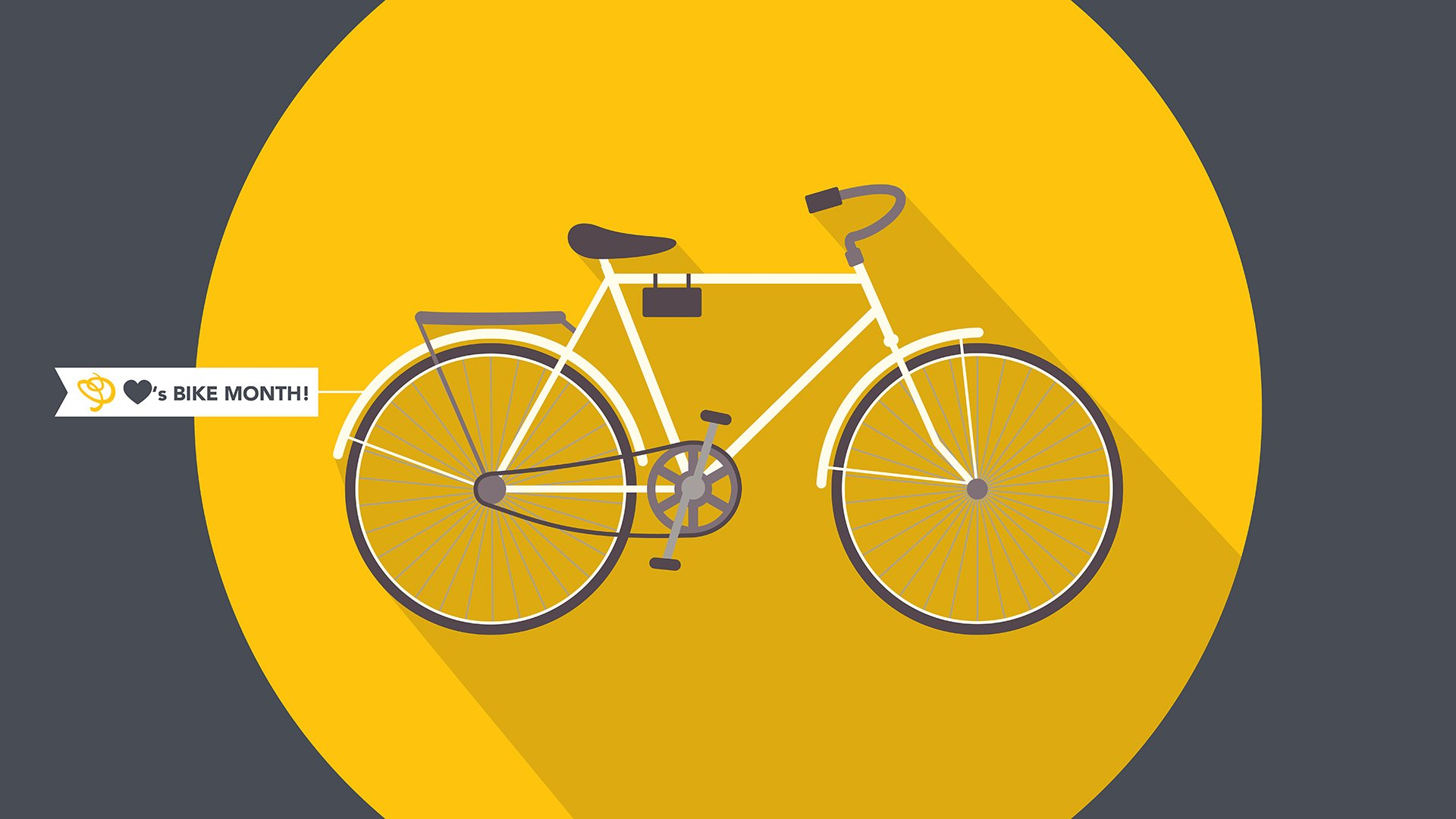 Bike Week / Month Graphic, Bicycle with MPS flag