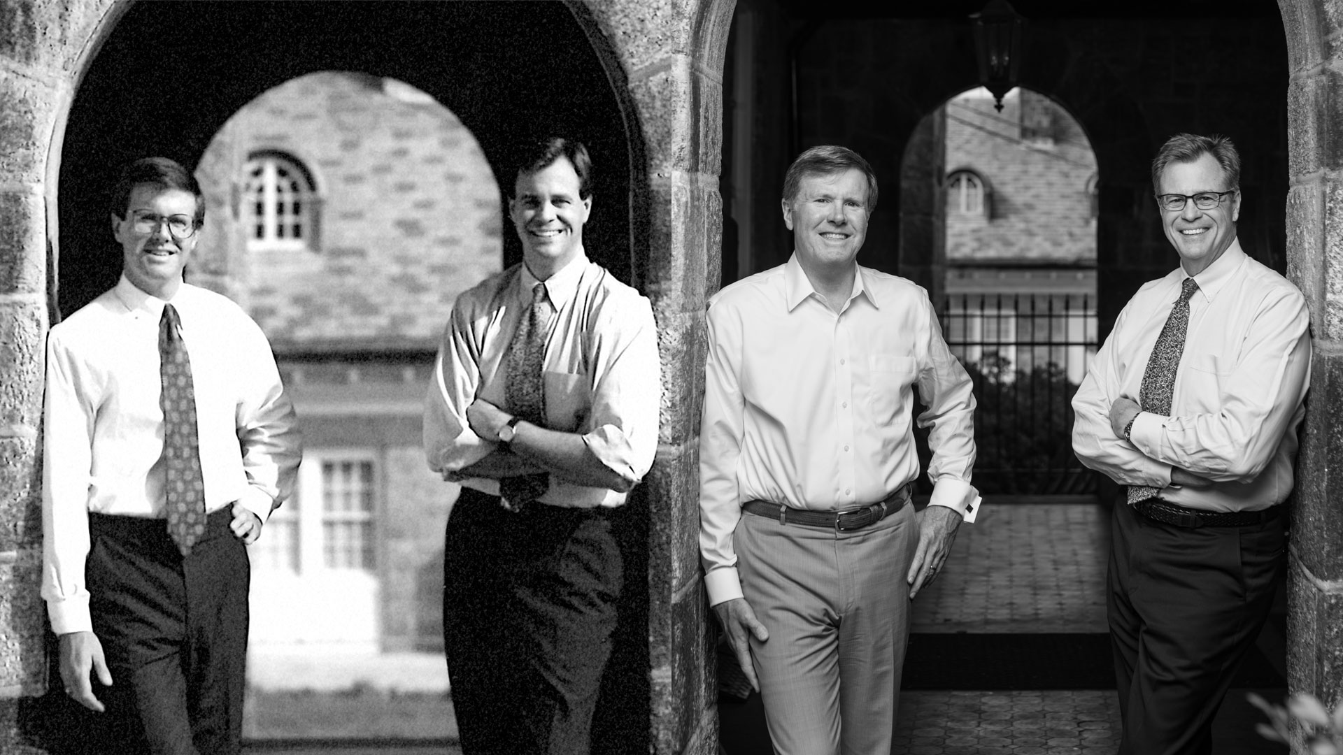 MPS: 25 Years in Greenville, Pictured: Joe Pazdan and Brad Smith (25 years ago and today)