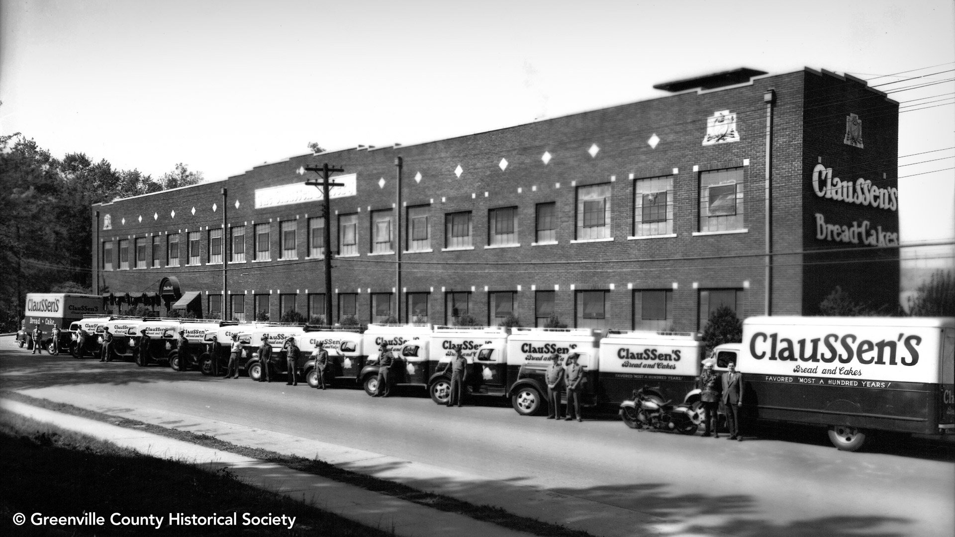Claussens Bakery, May 1940, Courtesy of Greenville Historical Society