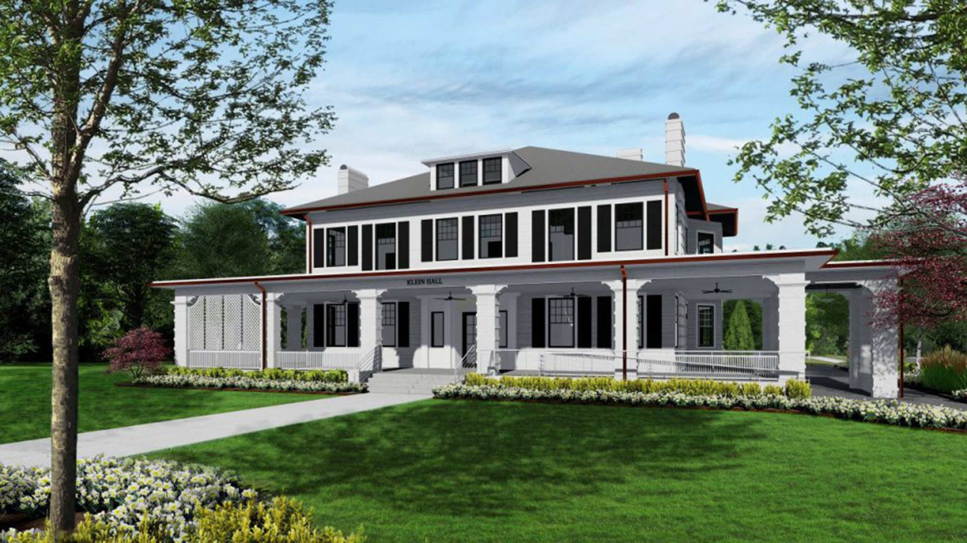 Cleveland Hall, Rendering