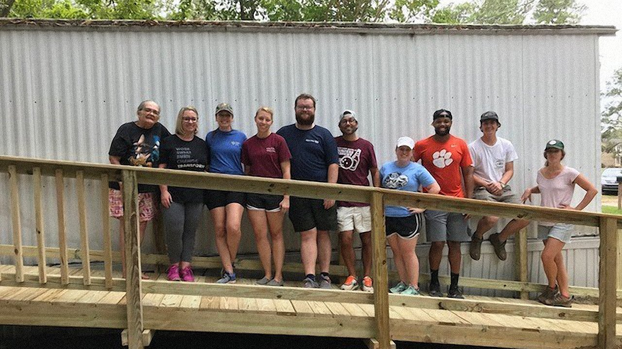 Team photo of MPS Charleston at Operation Home Ramp Build 2019