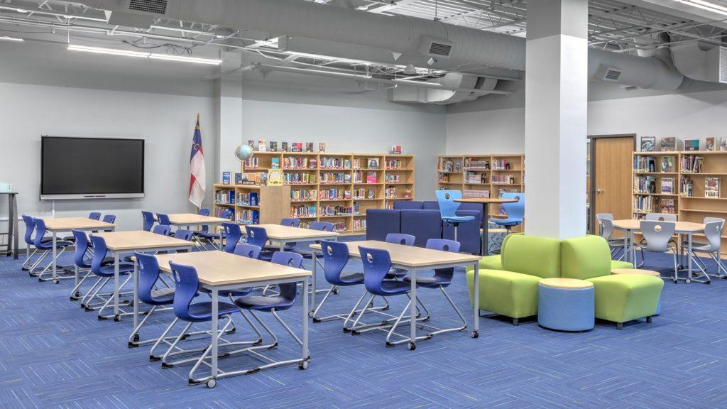 Community High School, Buncombe County Schools, Media Center