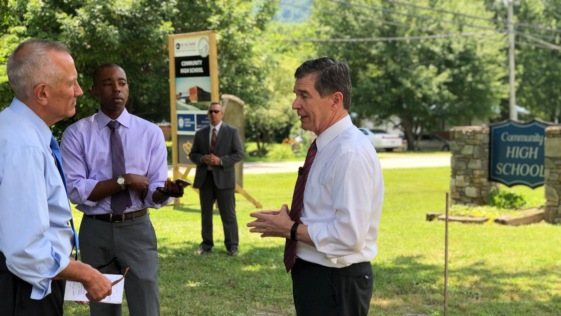 A visit from Governor Roy Cooper at Community High School