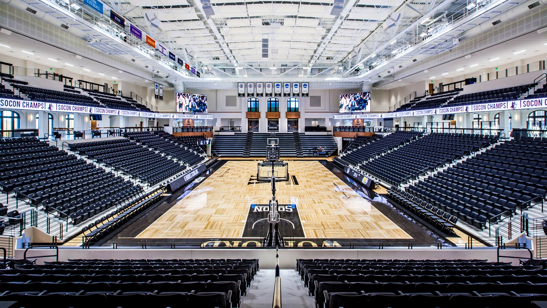 Jerry Richardson Arena Wofford College, Basketball Court