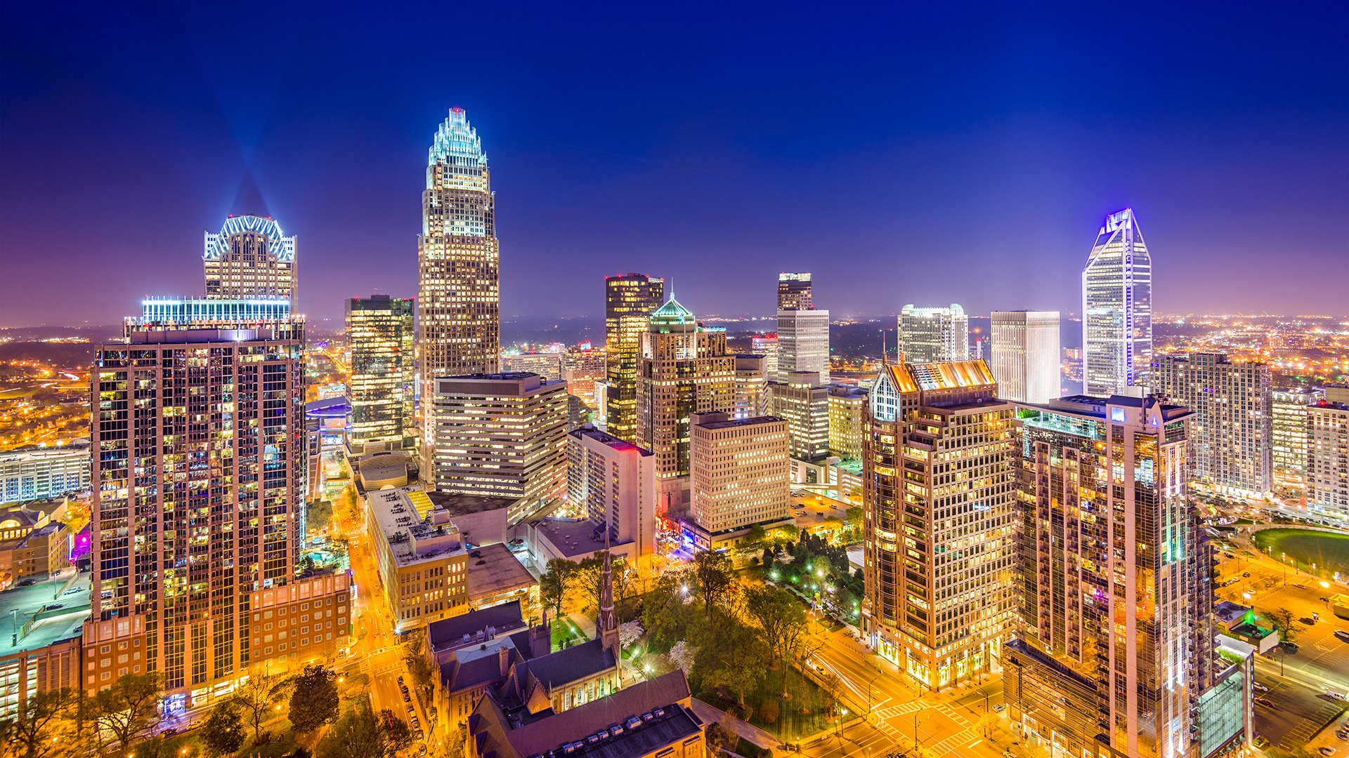 Pictured: Charlotte skyline
