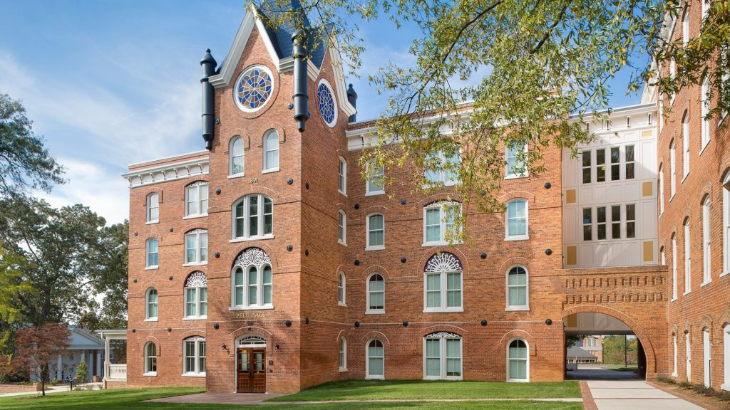Pictured: Pell Hall, Converse College