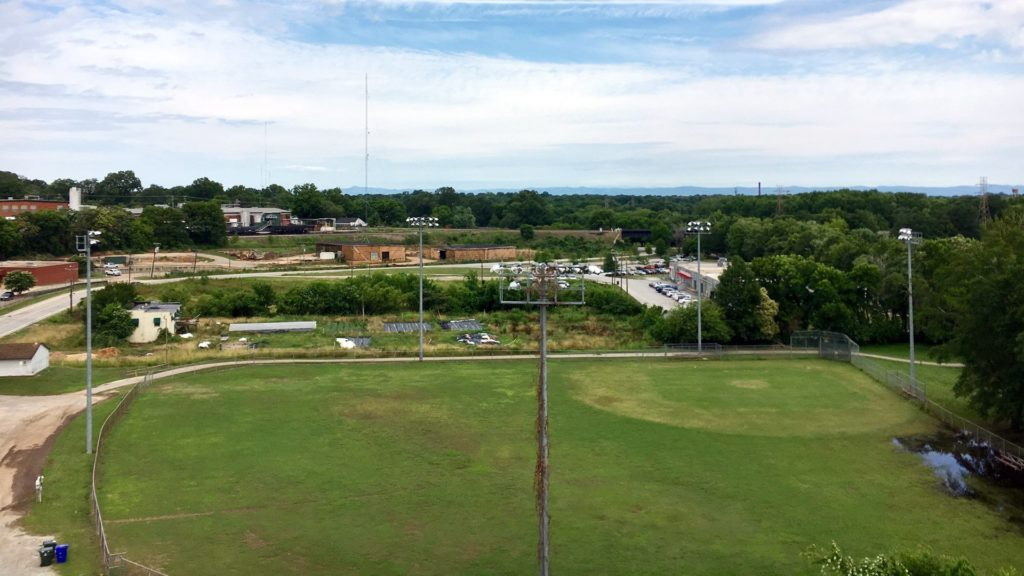 Unity Park , View From the Top of the Cherry Picker