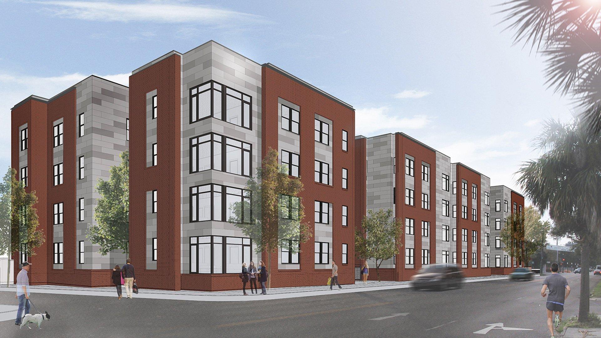 Meeting Street Student Housing Rendering - Charleston