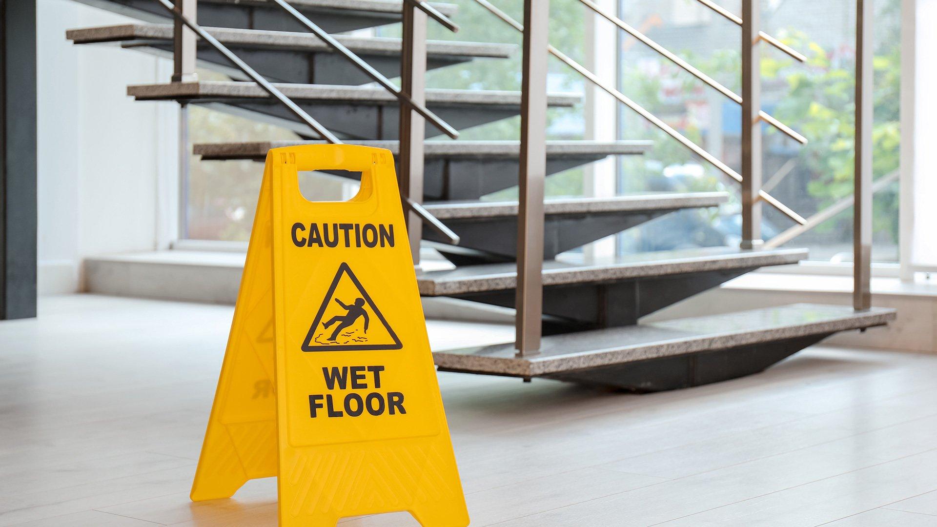 Pictured: Caution Wet Floor Sign