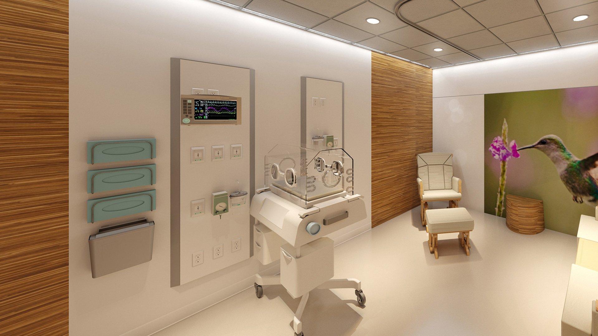 Bon Secours St. Francis Eastside Neonatal Care Unit, Rendering