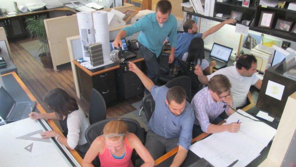 Pictured: Summer Interns working hard in the Charleston office.