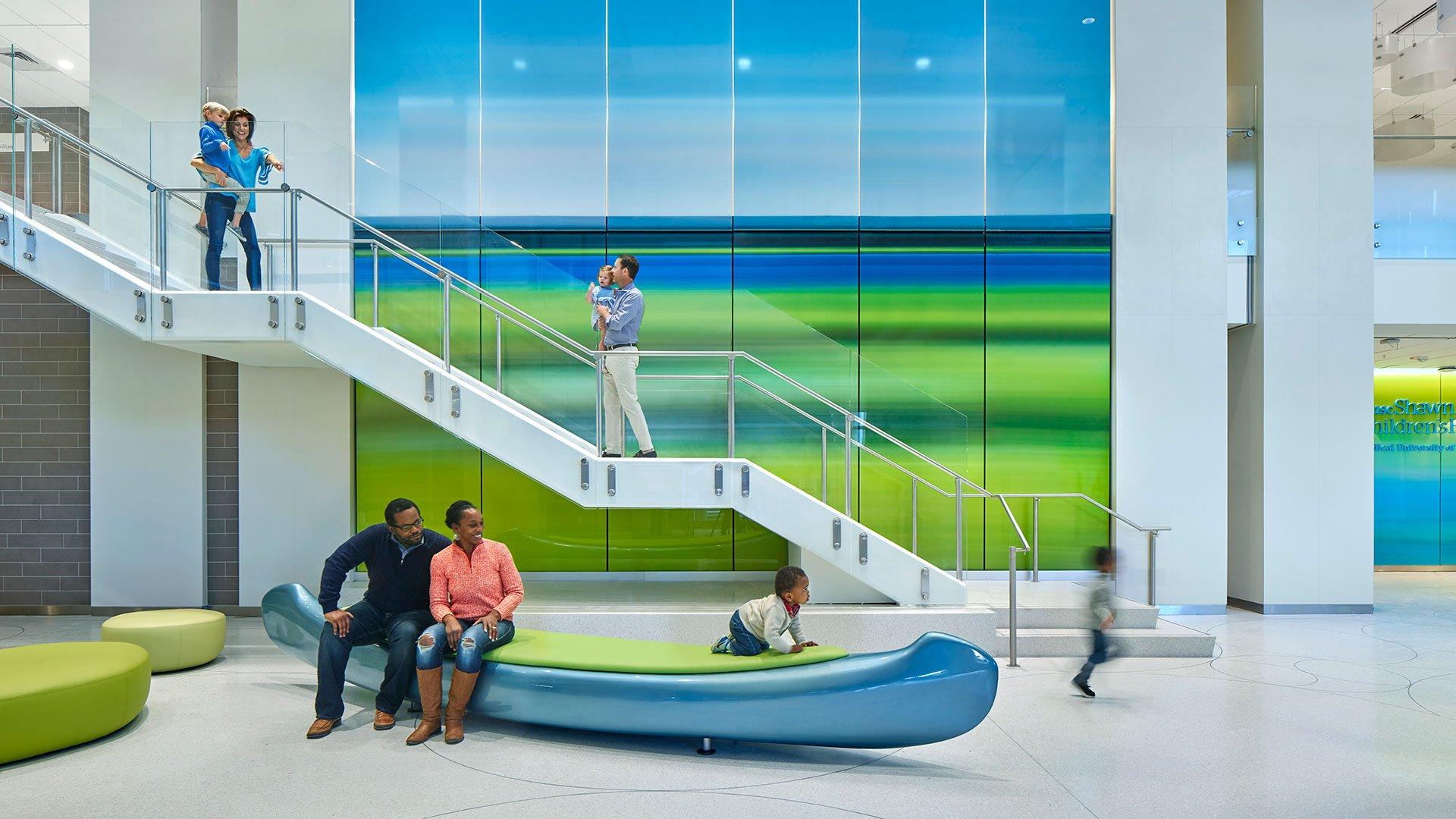 MUSC Shawn Jenkins Children Hospital, Main Lobby Stairway