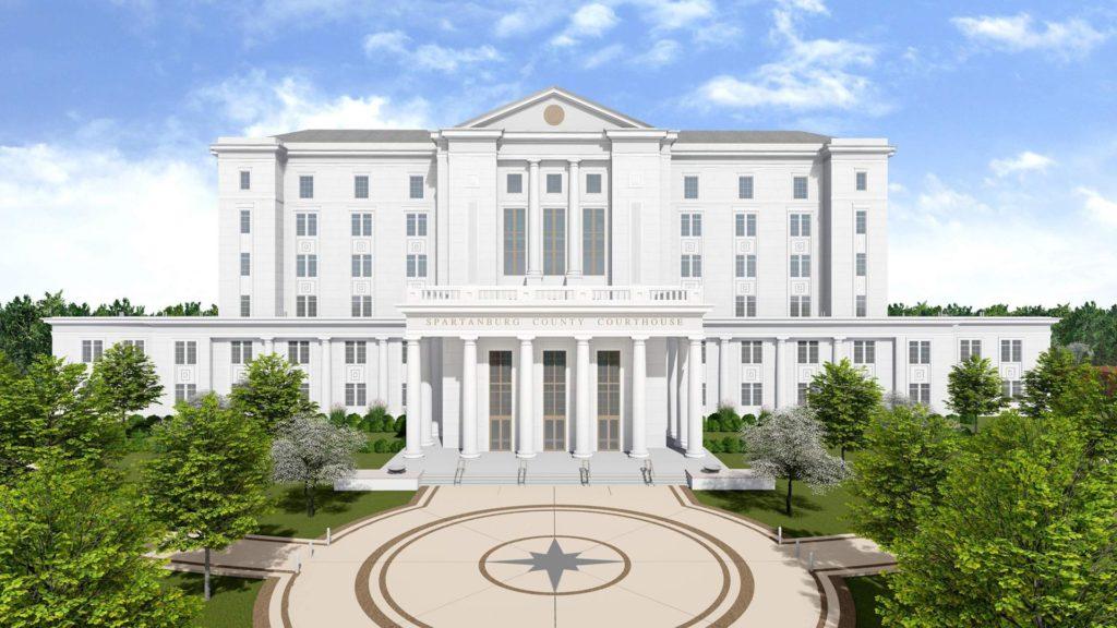Spartanburg Judicial Center, Rendering