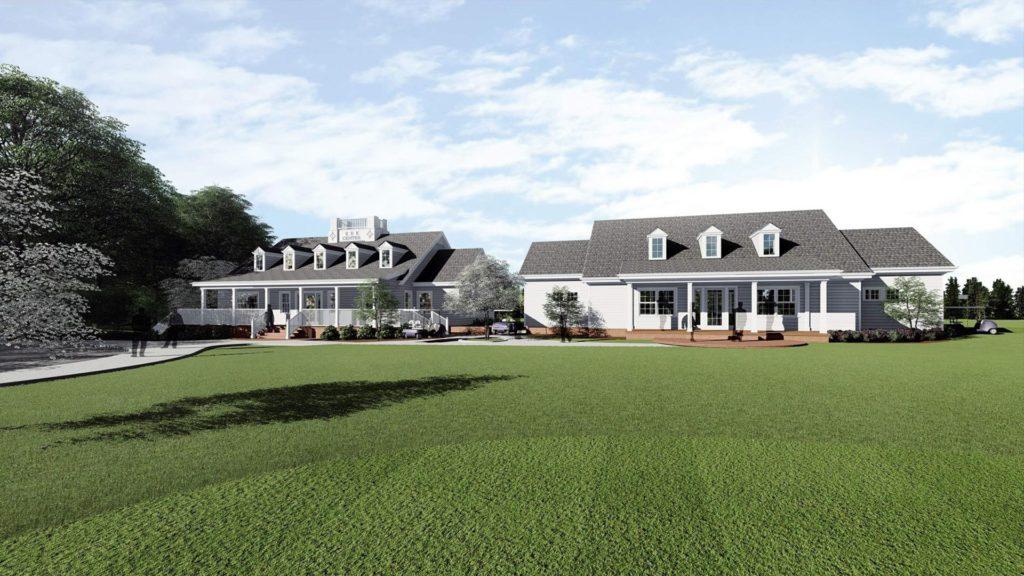 Furman University, Davis Faxon Golf Training Facility, Rendering