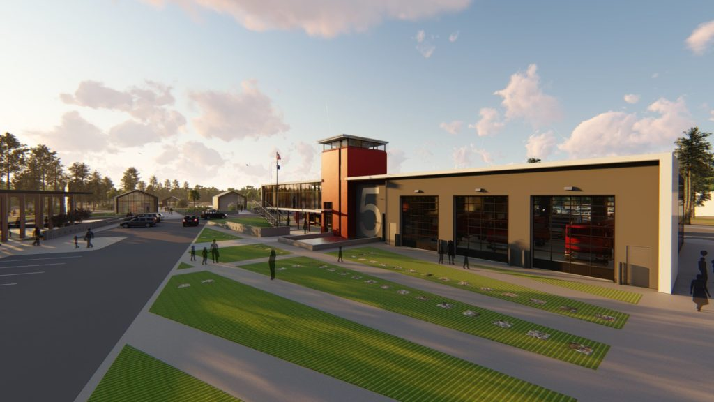 COVID Fire Station Rendering