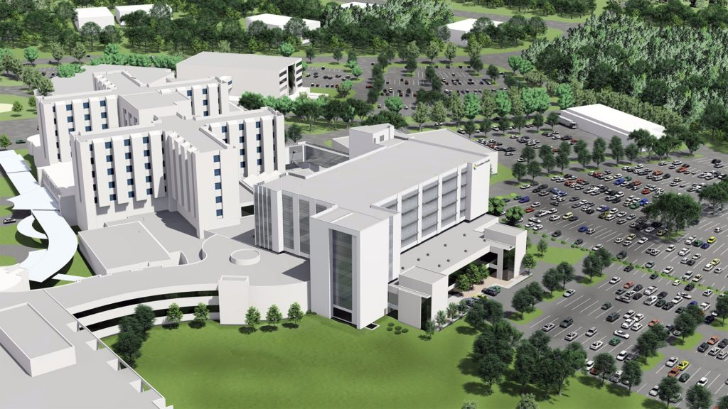 CaroMont Health, Critical-Care Tower Rendering
