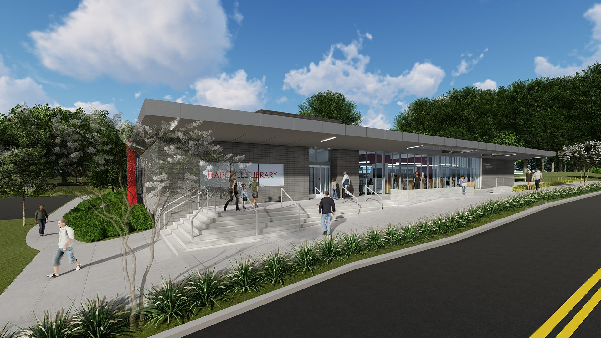 Hapeville Library, Rendering
