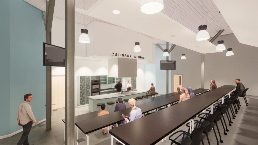 Truist Center for Culinary and Hospitality Innovation Center at Poe West, Interior Rendering