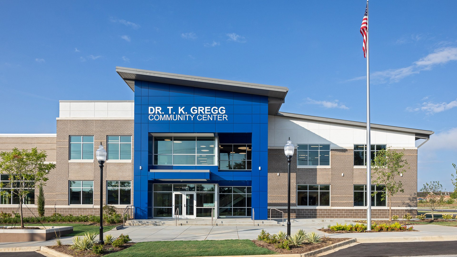 T.K. Gregg Community Center, Exterior