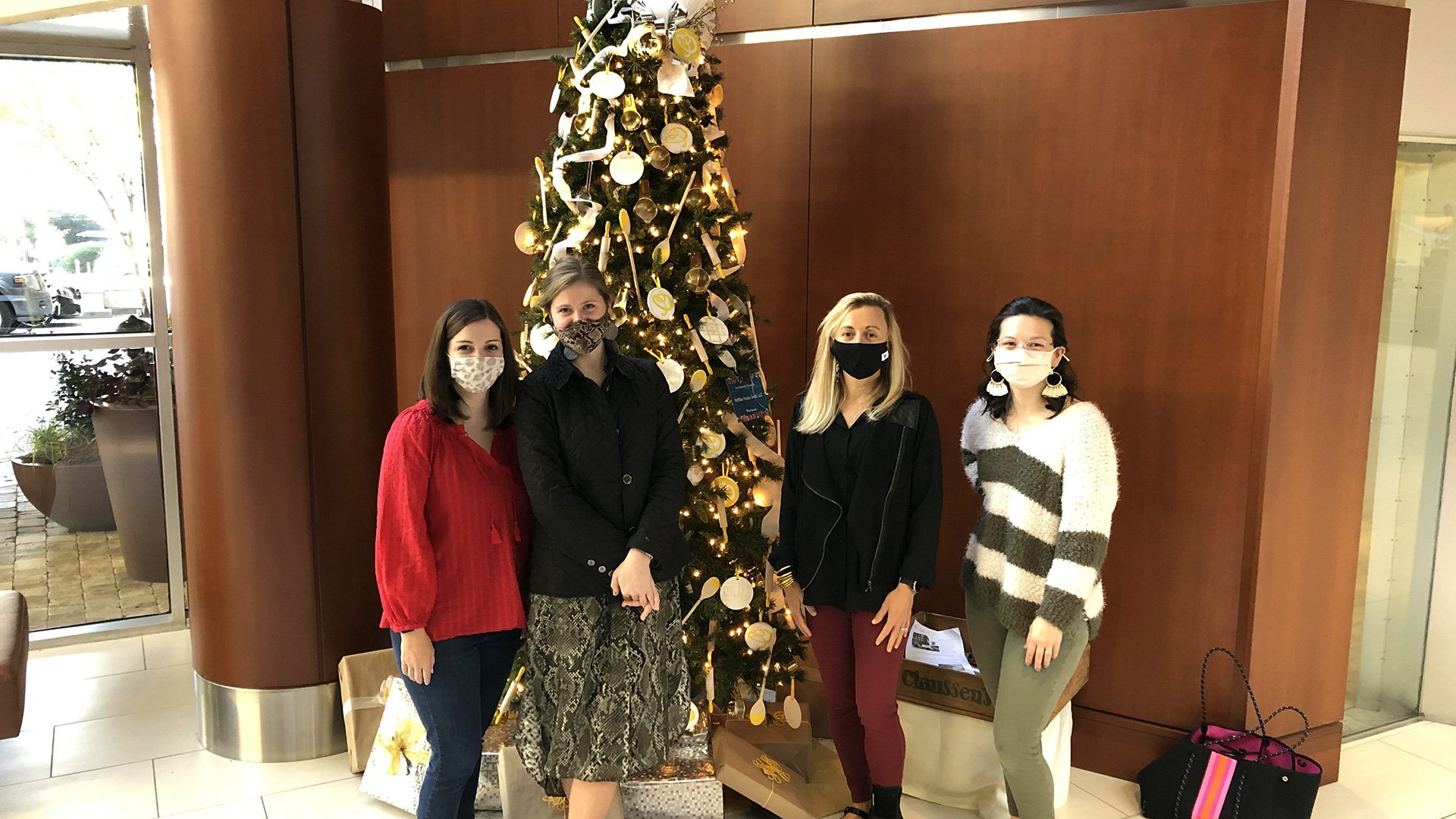 Greenville Interiors Team Celebrates the Festival of Trees!