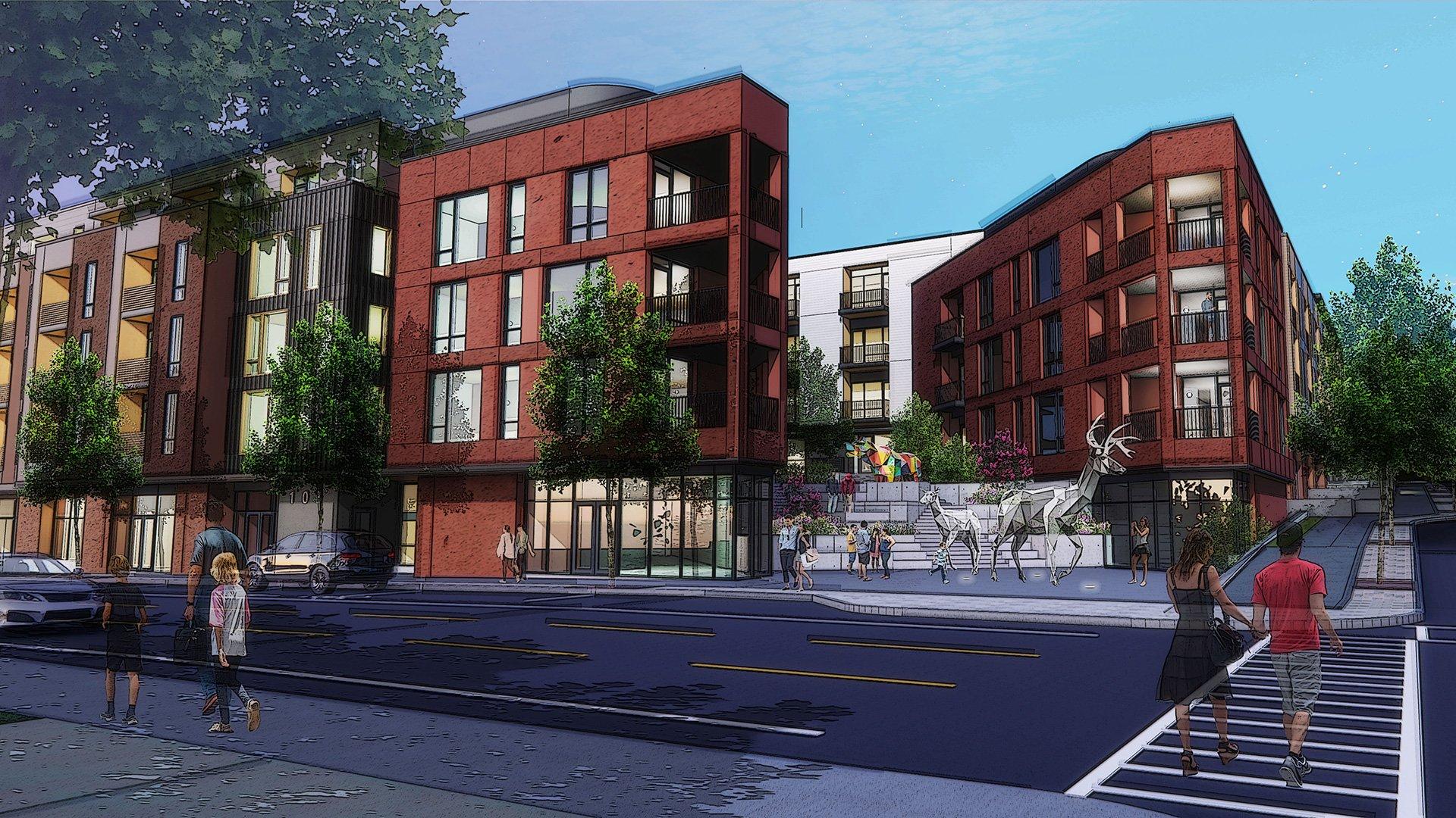 Charlotte and Chestnut Street Development, Rendering