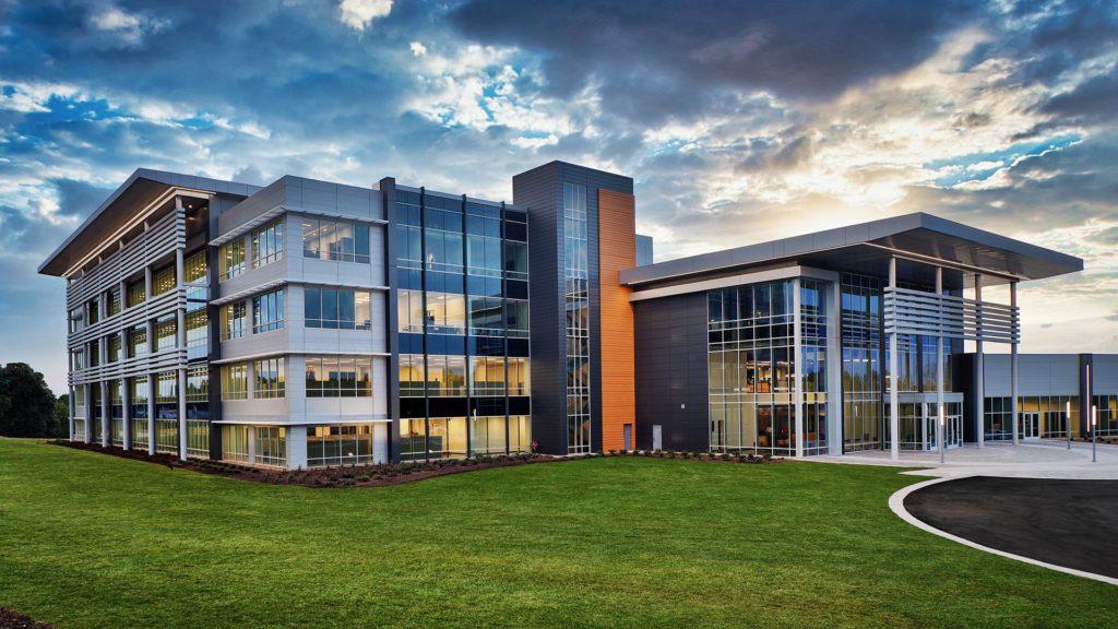 TTI Innovation Center, at dusk
