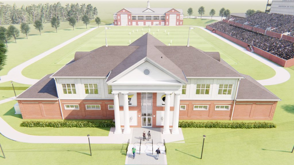 Anderson University Soccer and Lacrosse Field House, Rendering