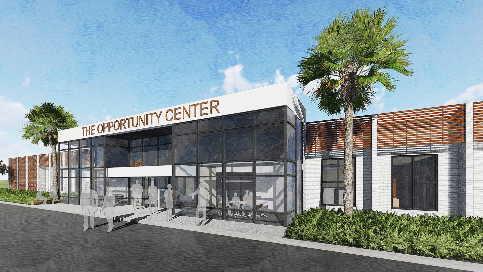 Opportunity Center, Exterior Rendering