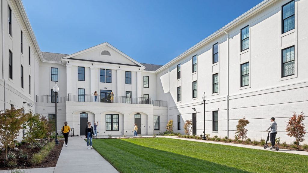 Wofford College, Jerome Johnson Richardson Hall, courtyard