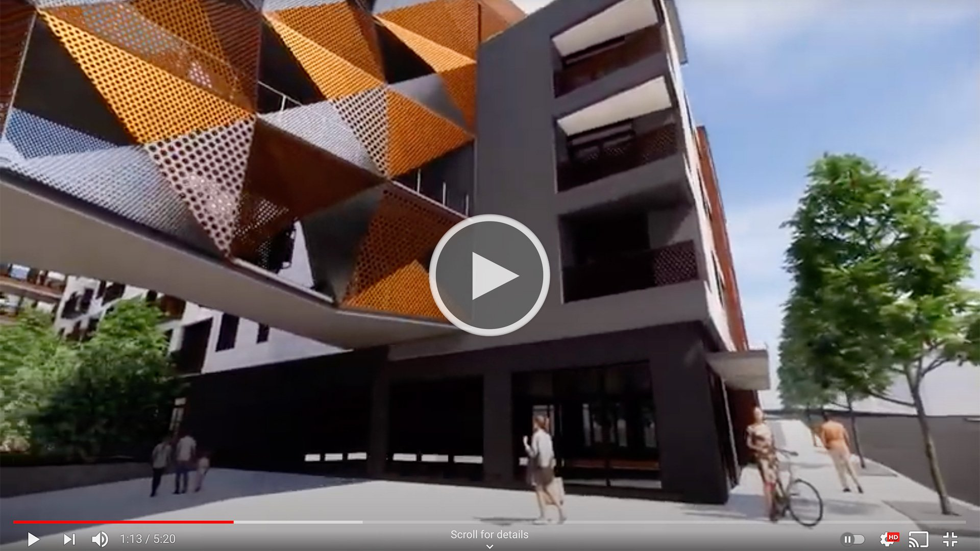 Ironwood Mixed-Use Development in Asheville, fly-thru video still