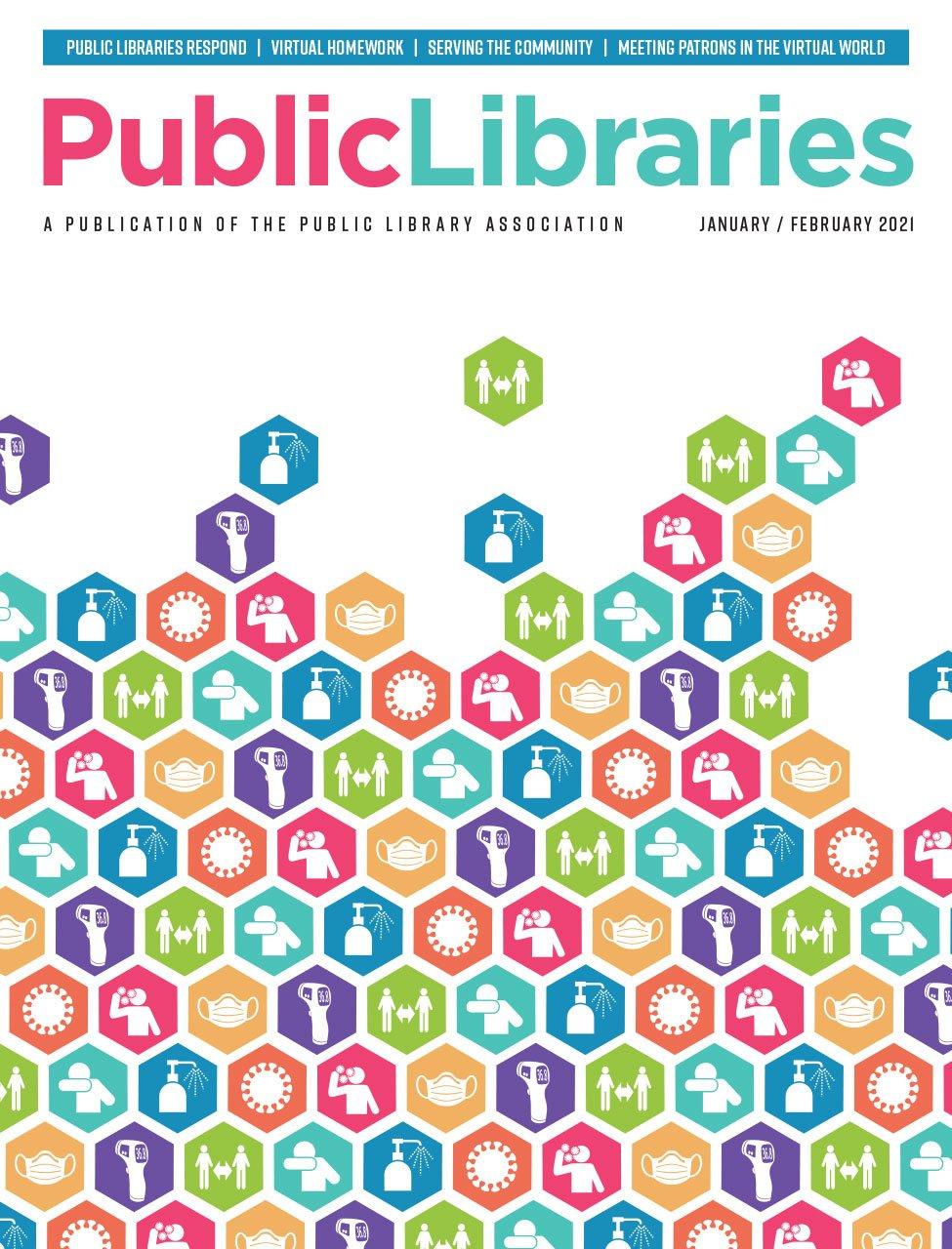 Public Libraries Magazine cover, Jan/Feb 2021 issue