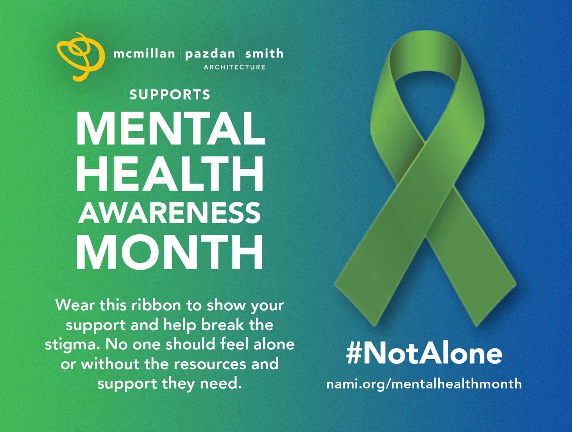 Graphic for May is Mental Health Month 2021