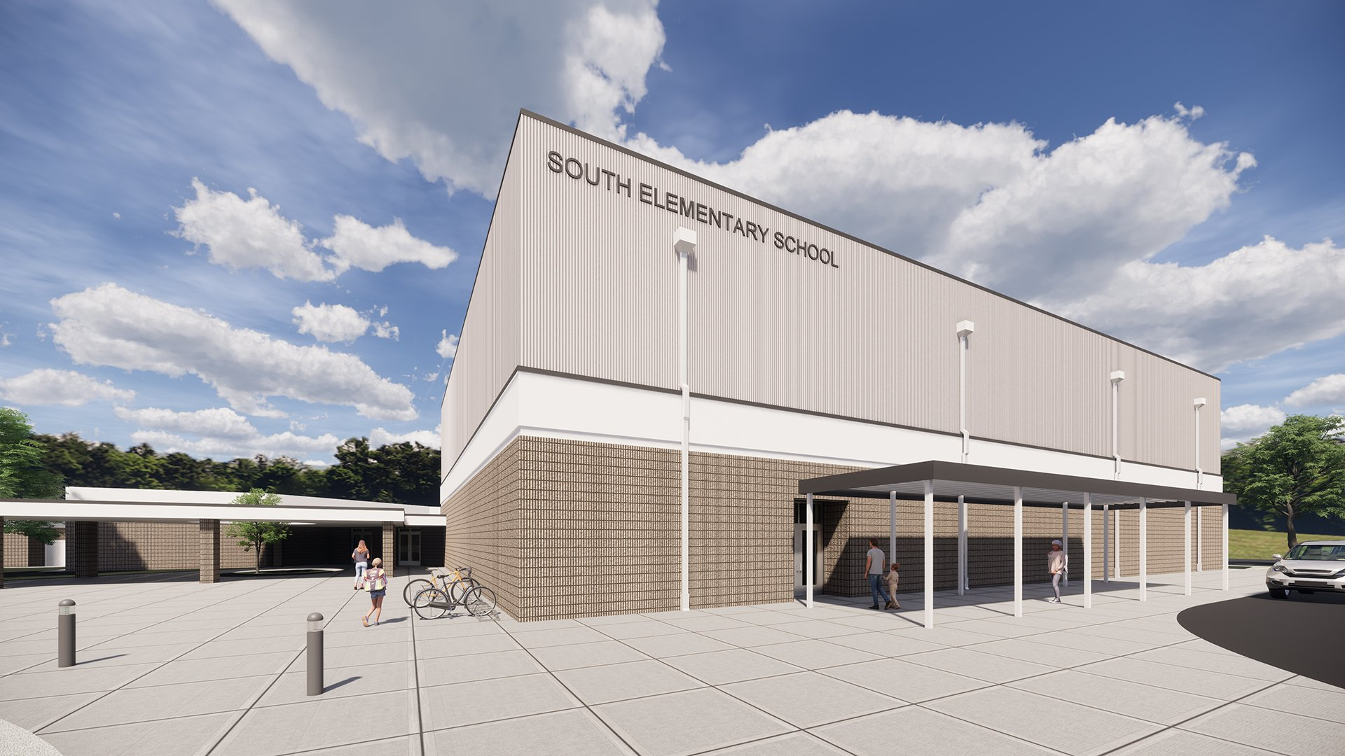 Mooresville District, South Elementary School, Rendering