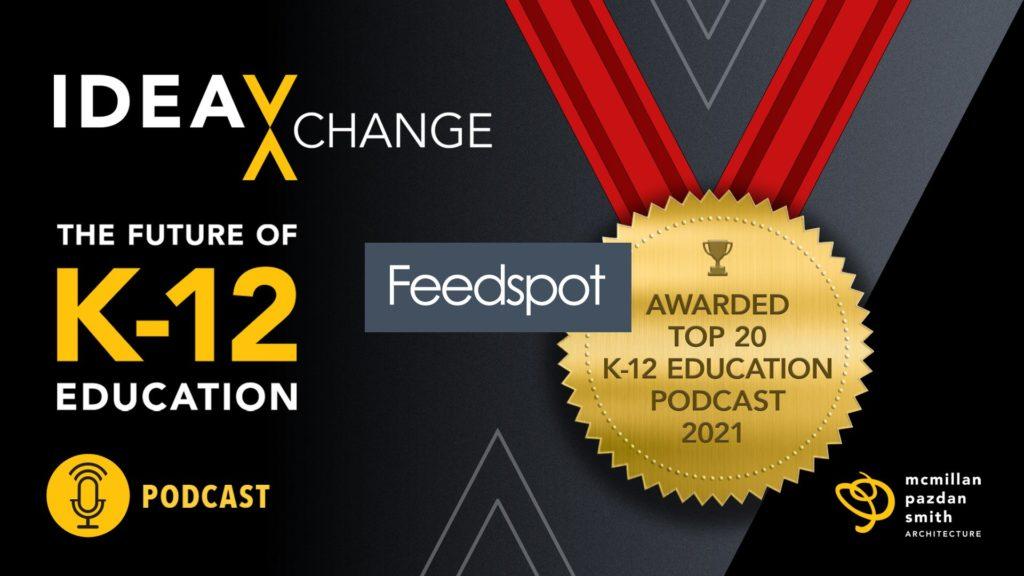 Top 20 Feedspot Award, K12 Podcast graphic