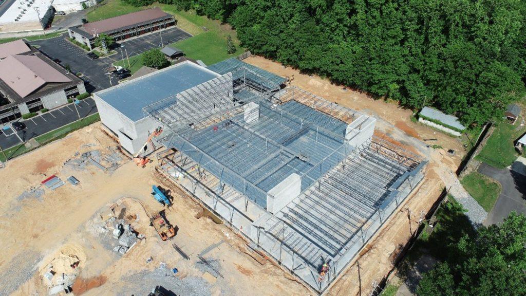 Cherokee Youth Center Construcion Aerial