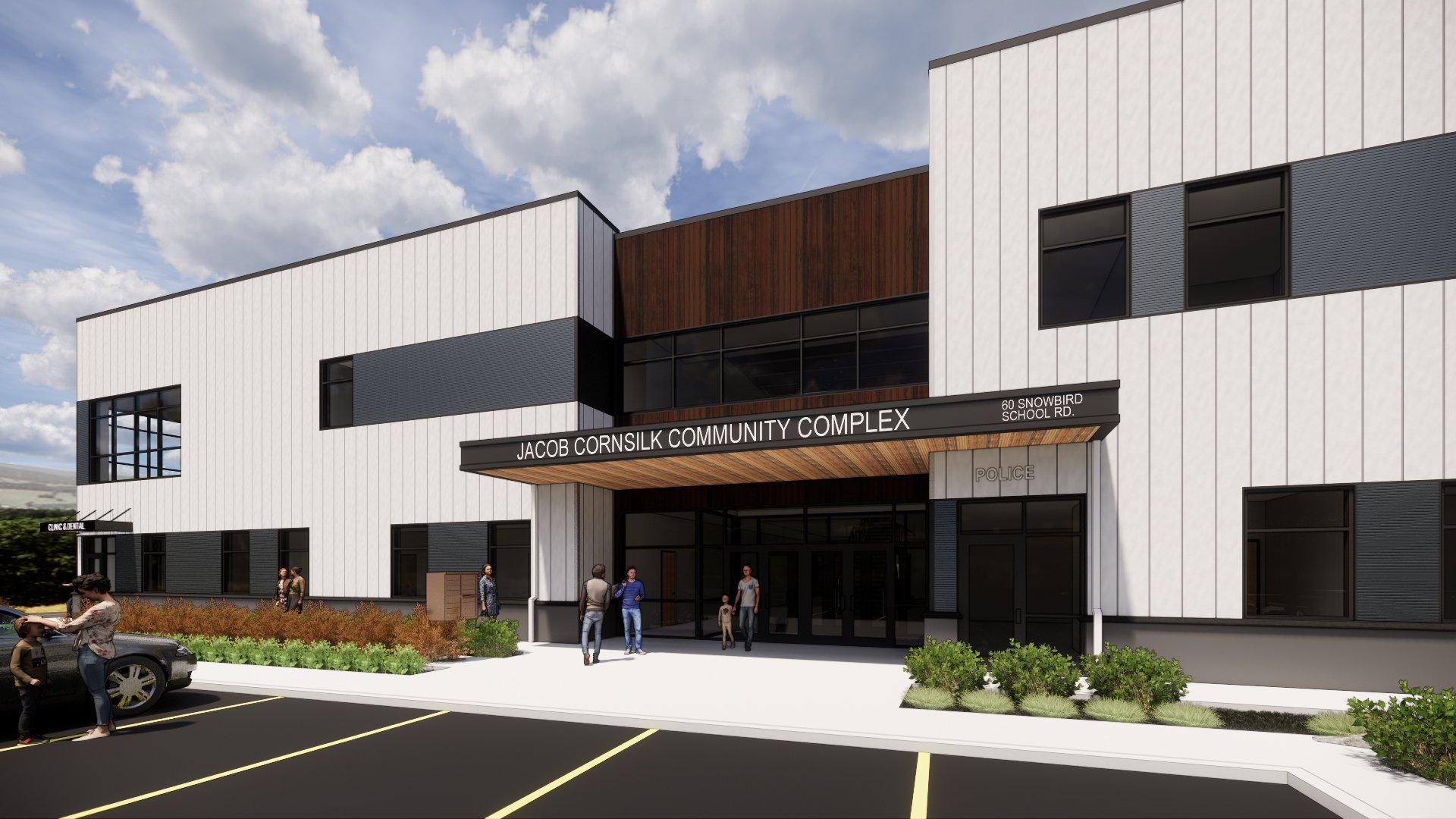 ECBI, Jacob Cornsilk Community Center, rendering