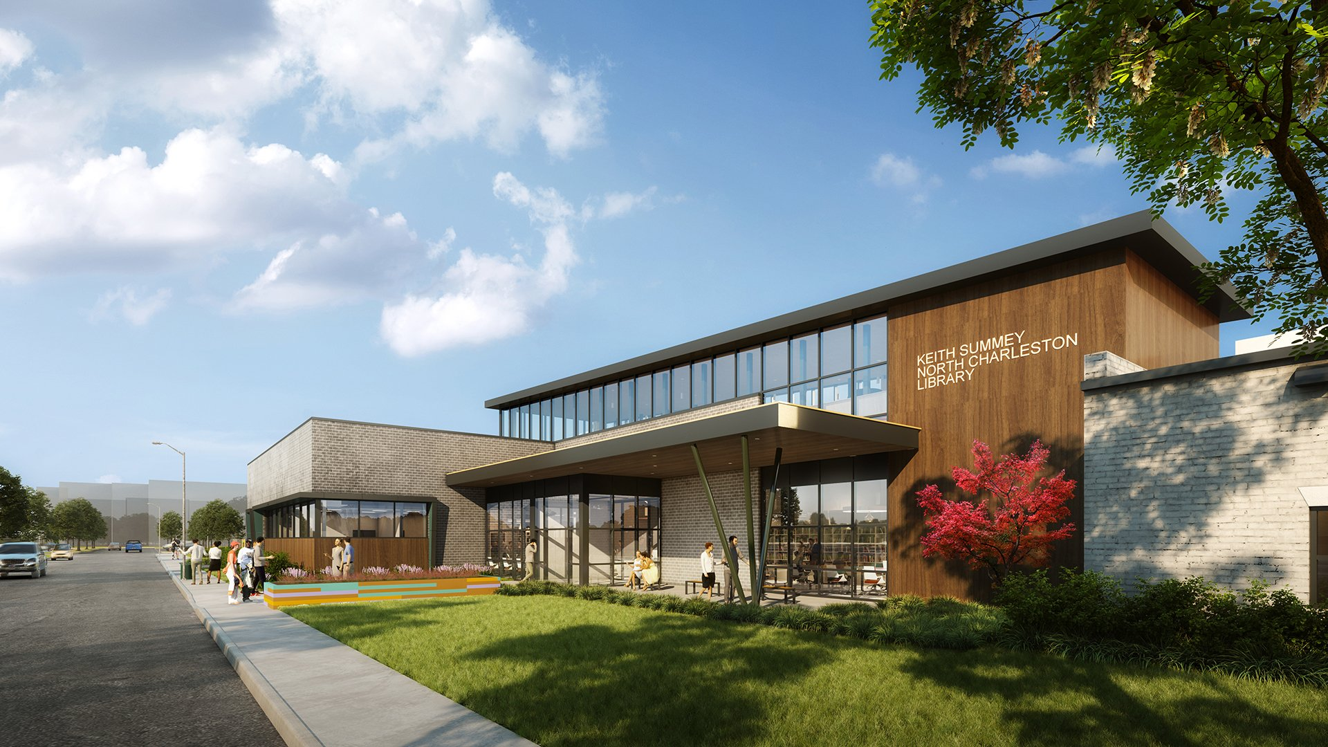 Rendering of the Keith Summey Library, North Charleston