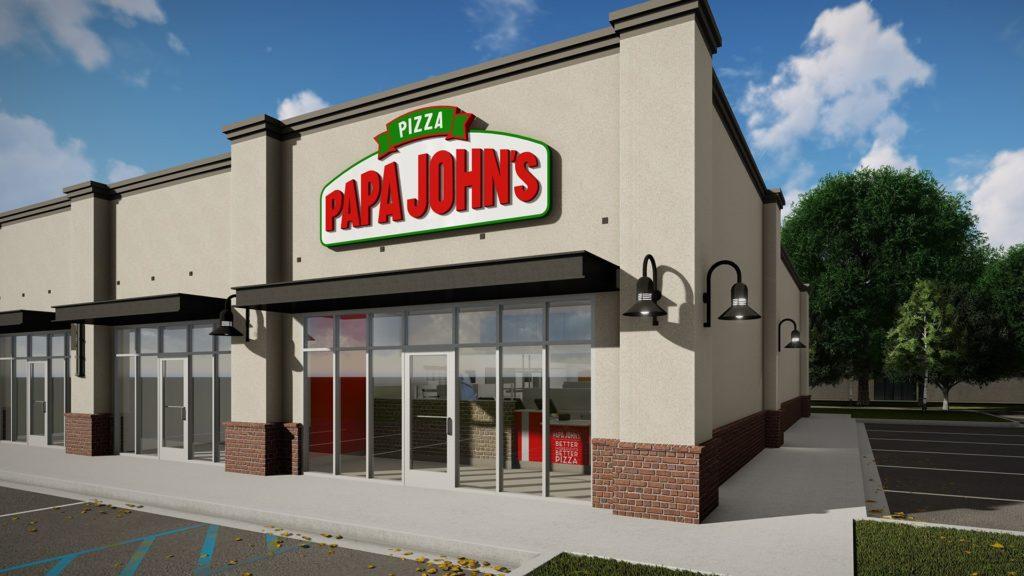 Papa John's Pizza, rendering