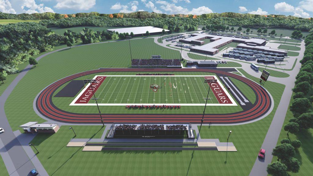Jasper County School District, Ridgeland-Hardeeville High School's football stadium rendering