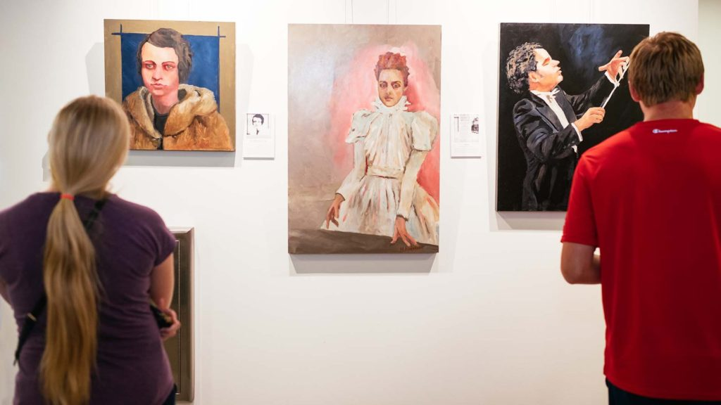 Pictured: Sift Gallery with guests viewing Melissa Anderson's work