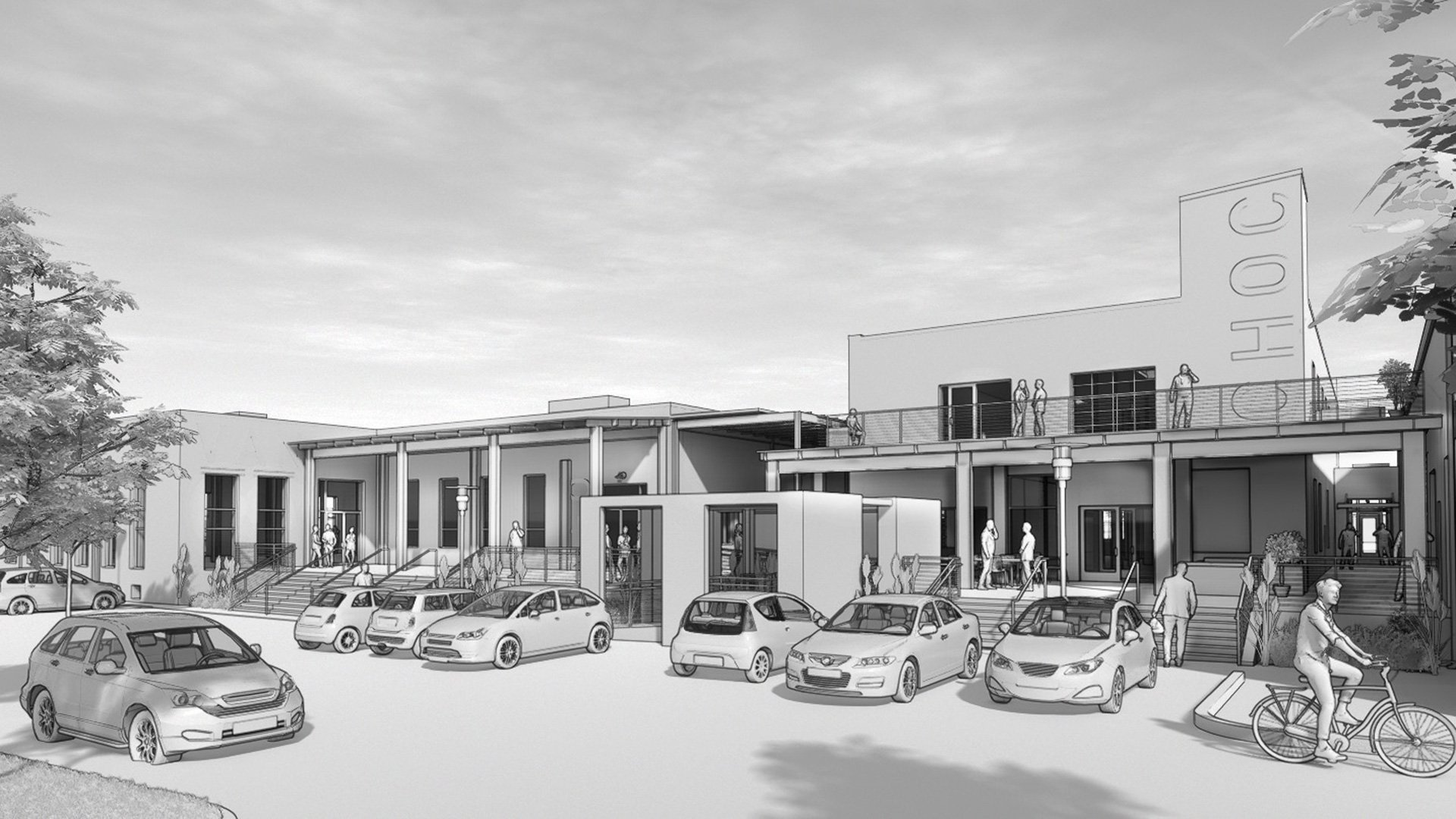 Adaptive Reuse Project rendering for Historic, Borden Ice Cream Plant